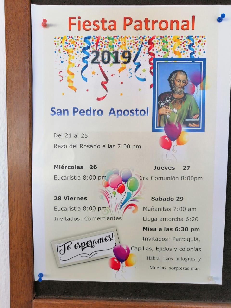 Fiestas Patronales de SanPedro en Playa Grande