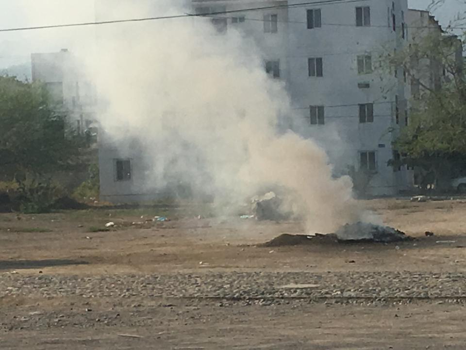 La quema de basura, unproblema añejo en Ixtapa