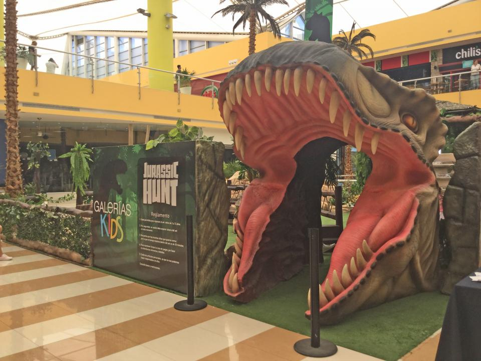 """Toda una experiencia, en""""Jurassic Hunt"""" en Galerías"""