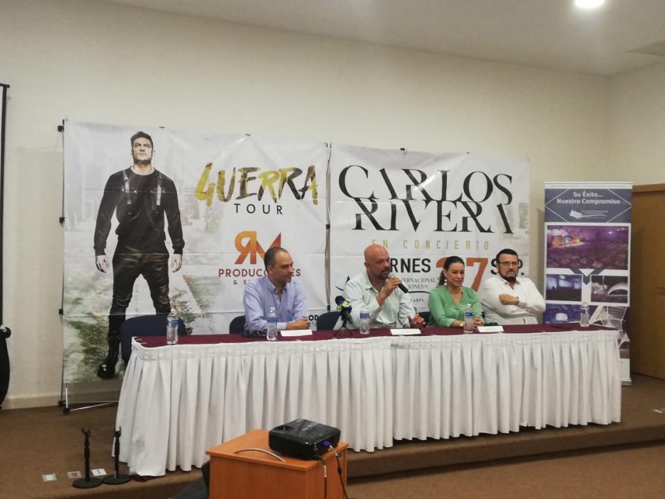 Anuncian concierto deCarlos Rivera en CIC