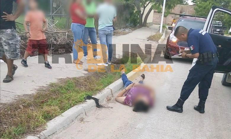 Mujer es atropellada por camioneta en Ixtapa