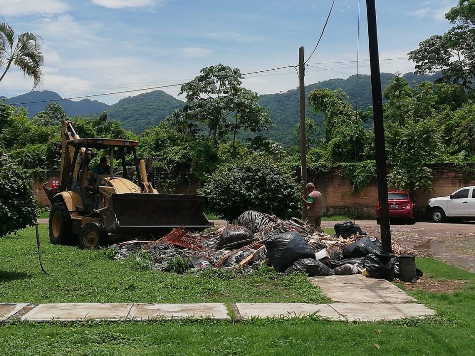 Atiende reporte Parques y Jardines procede a llevarse la poda en Los Sauces