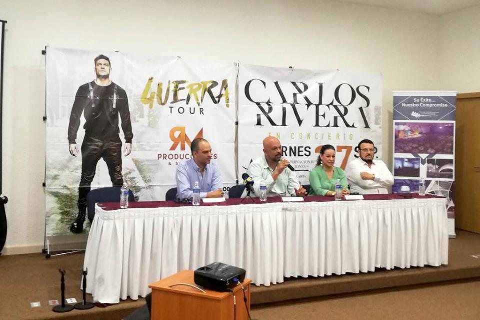 Carlos Rivera en Puerto Vallarta el 27 de septiembre para promover al destino