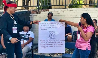 Migrantes indígenas exigen poner fin a discriminación y racismo en EE. UU. y contextos transfronterizos