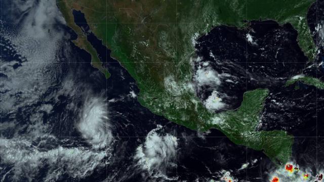 Reporta el SMN tres zonas de baja presión en el Pacífico con alto potencial de convertirse en ciclones tropicales