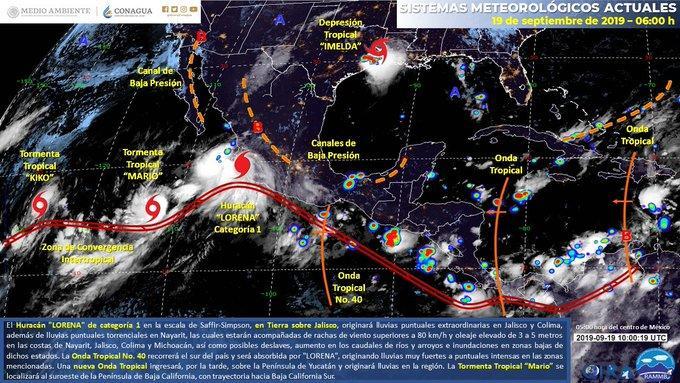 Reporte matutino Huracán Lorena Información actualizada sobre el paso del Huracán