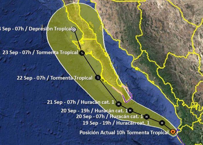 Lorena ahora tormenta tropical; esperan lluvias torrenciales en Puerto Vallarta y BadeBa
