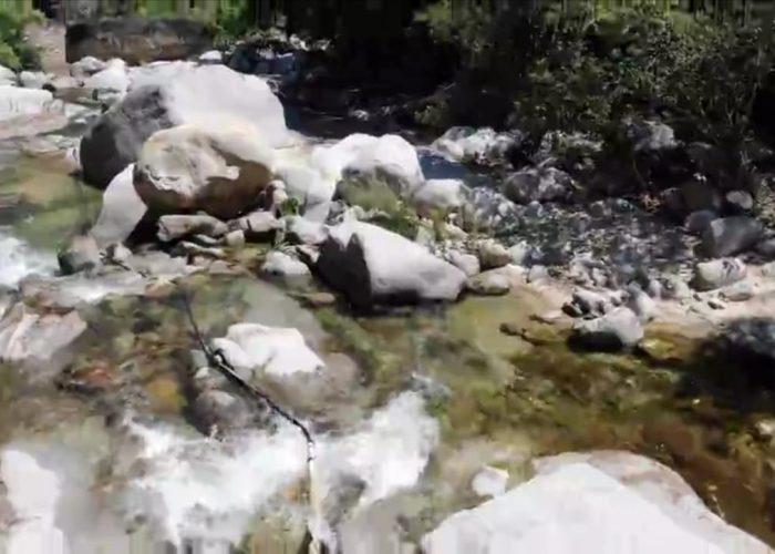 Cierran paso a puente colgante de río Los Horcones
