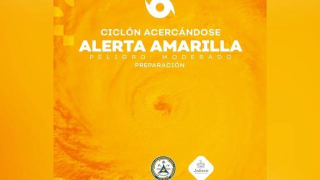 Alerta amarilla para Jalisco por Tormenta Tropical Priscilla