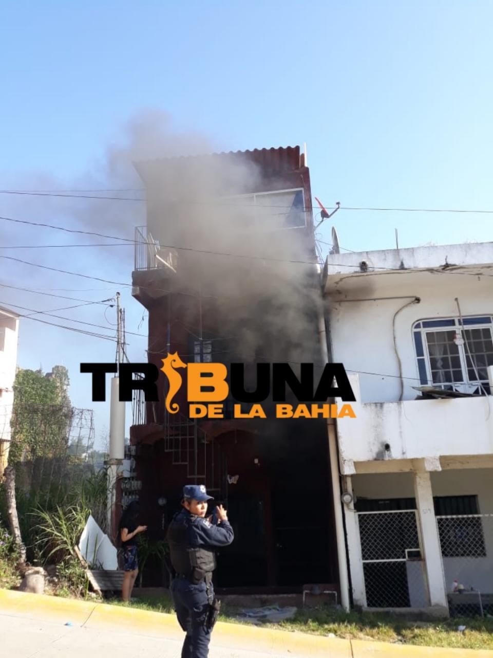 Incendio en edificio de Lomas del Calvario