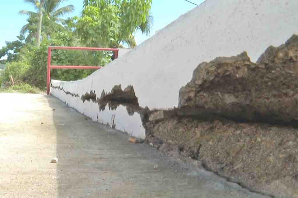 Jardinera en Vista Bahía  a punto del colapso