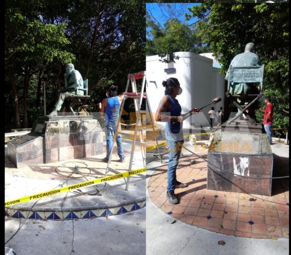 Restauran 10 esculturas en Puerto Vallarta, dos de ellas serán reubicadas