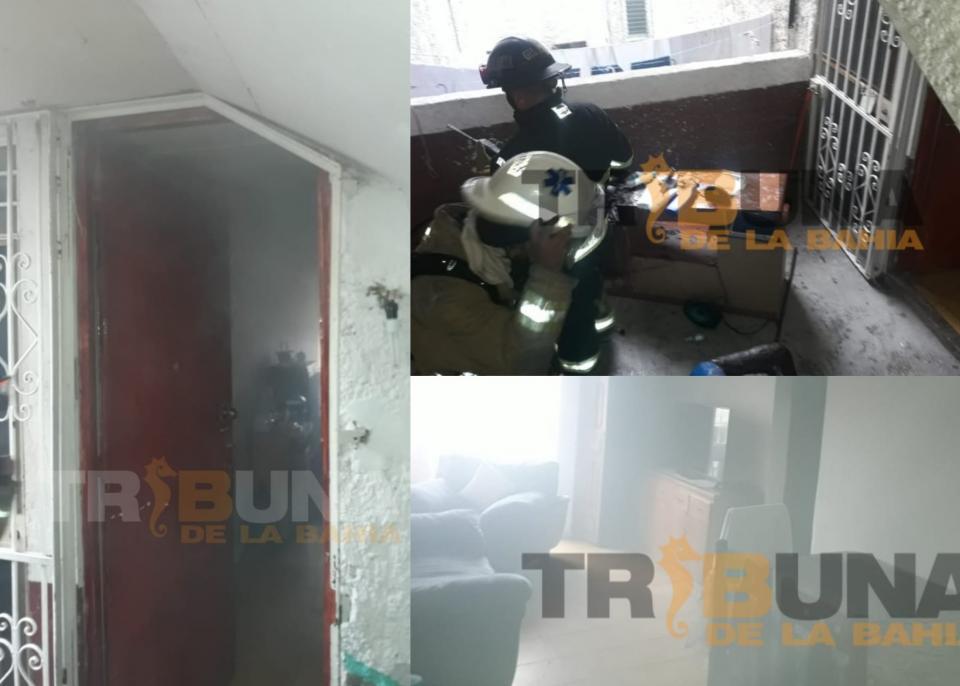 Se incendia departamento en tercer piso en La Aurora