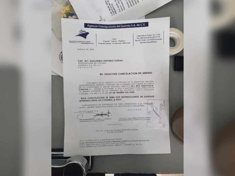 Se descarta coronavirus en el crucero que venía a México