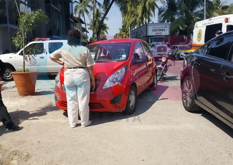 Accidente vial en zona hotelera norte
