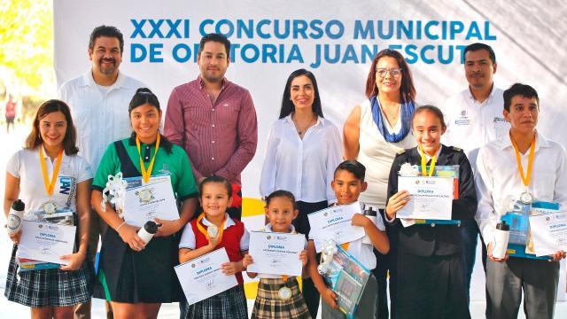 Inaugura Jaime Cuevas el Concurso Municipal de Oratoria