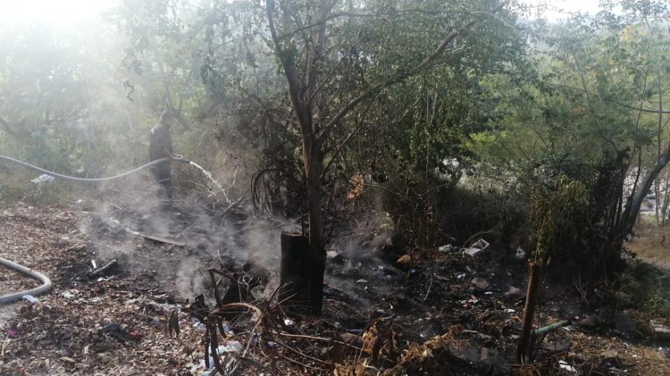 Reportan quema de basura en Río Pitillal