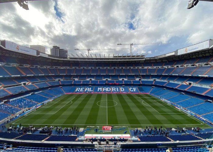 Estadio Santiago Bernabéu almacena material sanitario