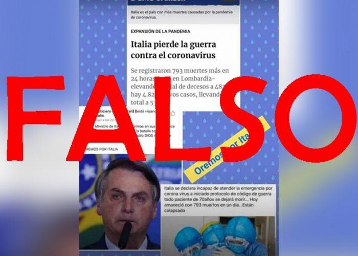 FakeNews: Primer ministro de Italia llora por perder la guerra contra coronavirus