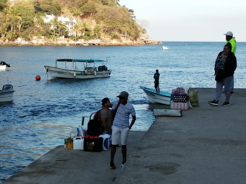 Tranquilidad en la comunidad costera de Boca de Tomatlan