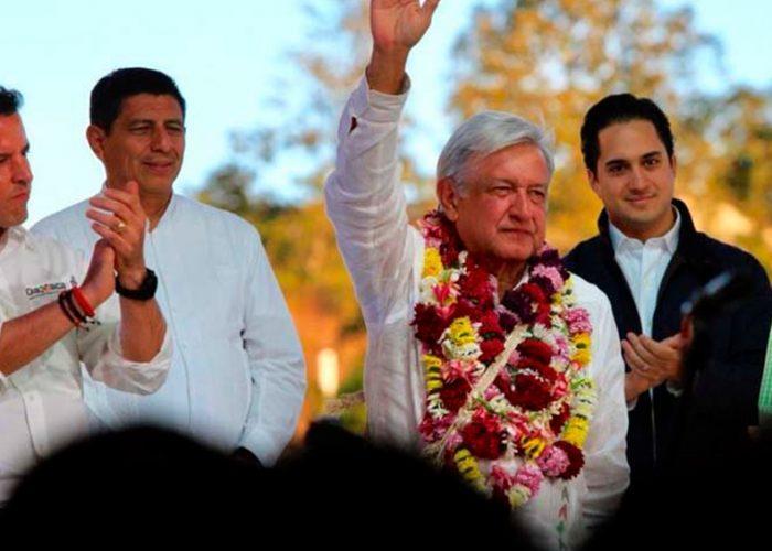 """Inaugura AMLO """"ahora sí"""" hospital en Oaxaca; atenderá COVID-19"""