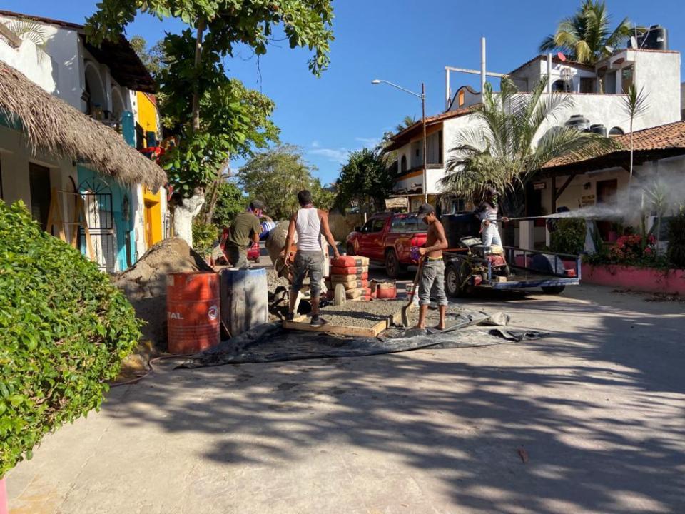 Continúan obras en San Pancho, pese a contingencia