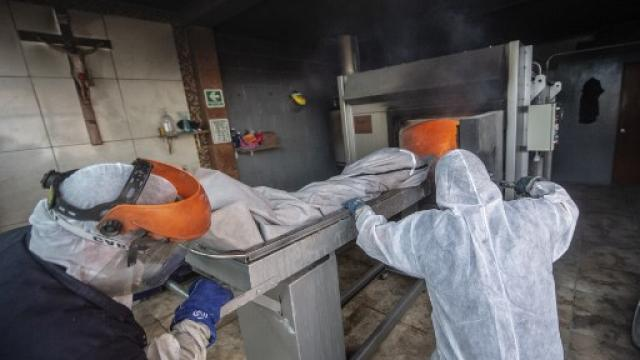 Cremación de cuerpos en México