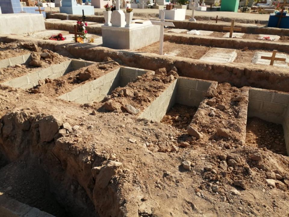 Las 500 fosas nuevas, en los panteones de El Progreso e Ixtapa
