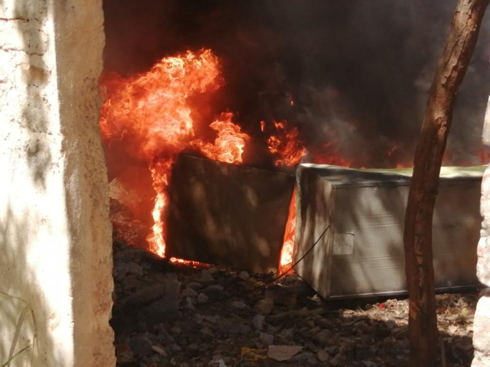 Incendio en La Floresta