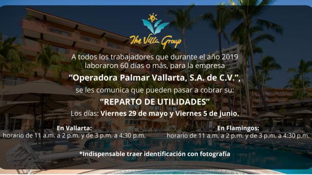 Reparto de utilidades Villa Group
