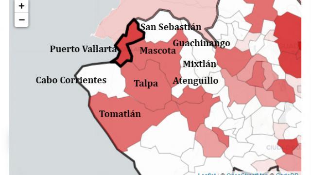 mapa de la región vallarta 240 casos