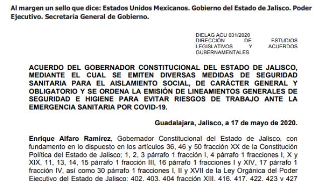 Acuerdo Jalisco
