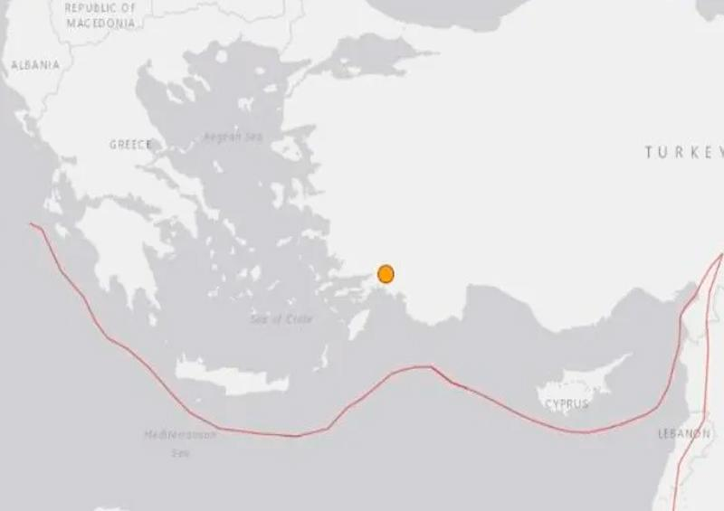 Sismo de magnitud 5,5 se registra en el suroeste de Turquía