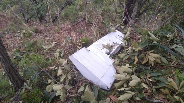 Avioneta destruida