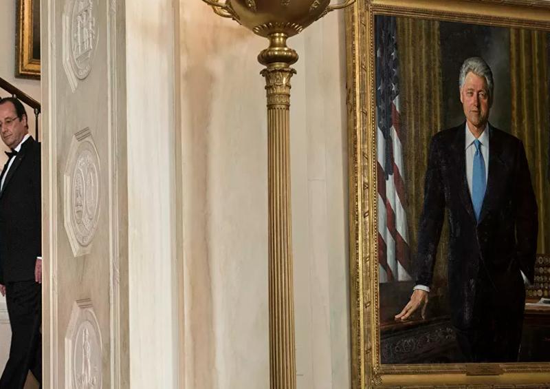 retratos de Clinton y Bush pierden su lugar