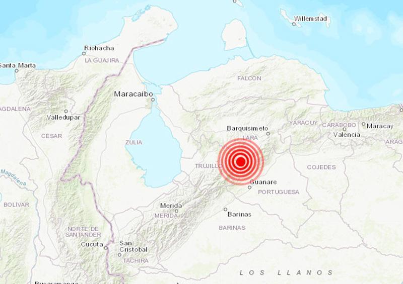 Temblor en Venezuela de 5,1