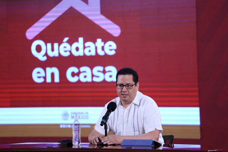 José Alomia en conferencia de prensa