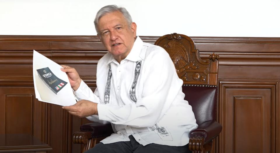 Video de AMLO desde Palacio Nacional