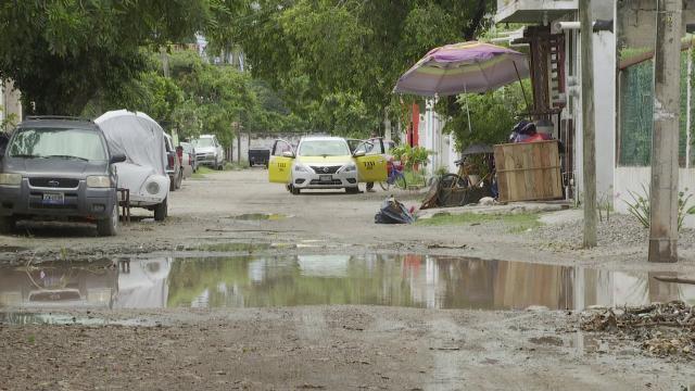Inundación en una calle