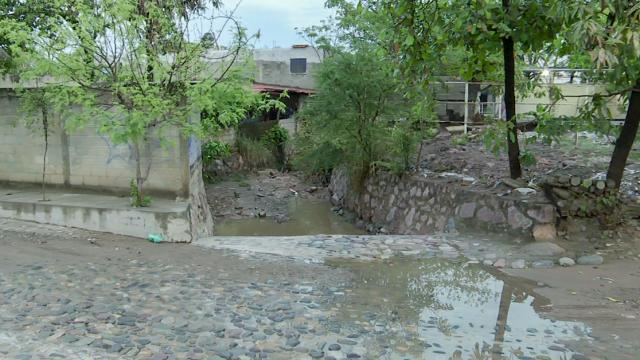 Arroyo en la colonia San Esteban