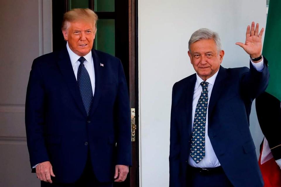 Donald Trump junto con AMLO