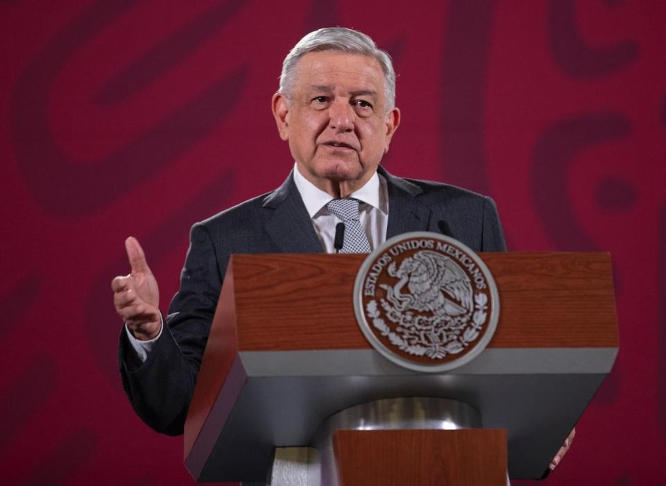 AMLO en conferencia de prensa en Palacio Nacional al 3 de julio