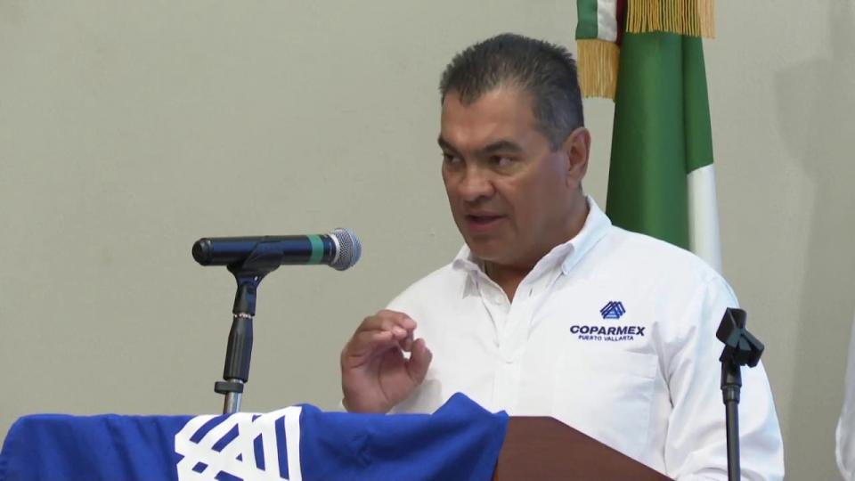 Jorge Careaga en la reunión mensual de la Coparmex