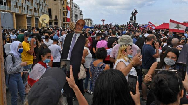 Manifestantes en Líbano