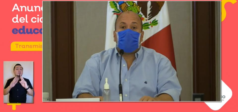 Conferencia de prensa en Jalisco