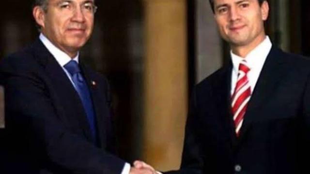 Peña Nieto y Felipe Calderón