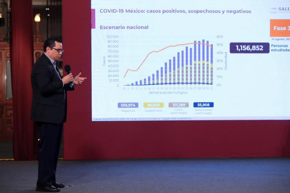 Luis Alomía en conferencia de prensa