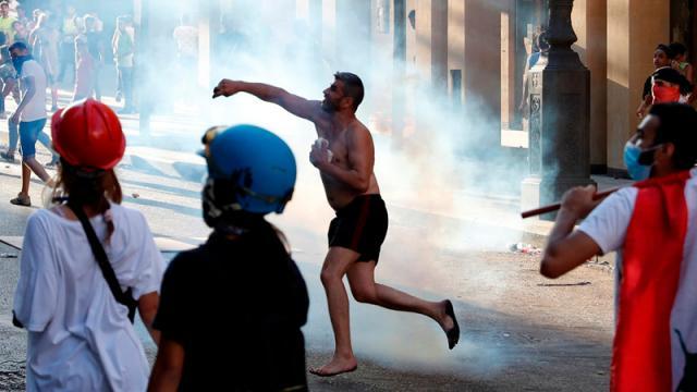 protestas tras la tragedia en Beirut