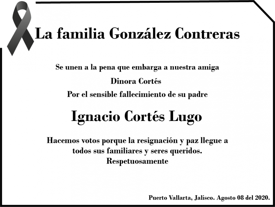 Esquela Ignacio Cortés