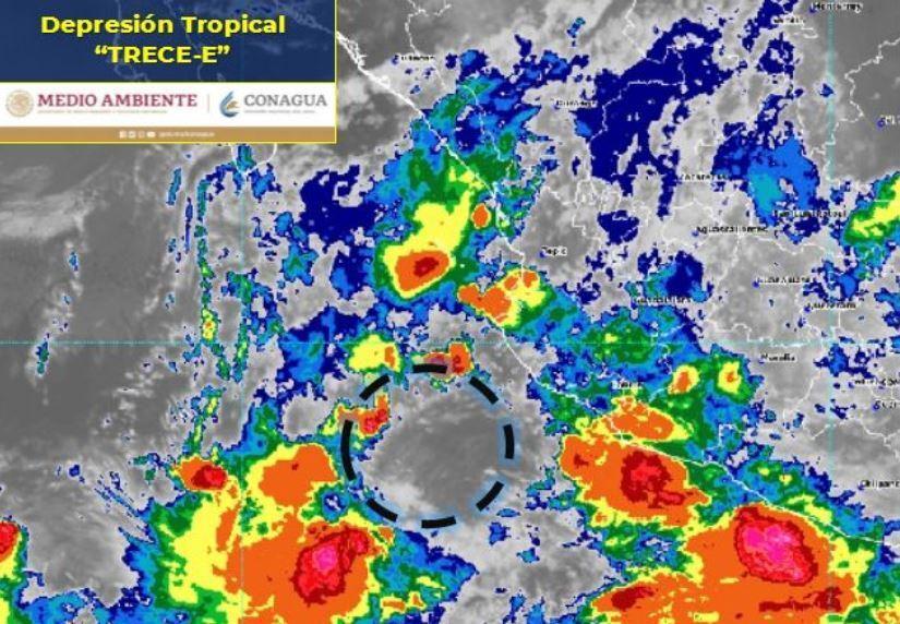 Depresión tropical trece e